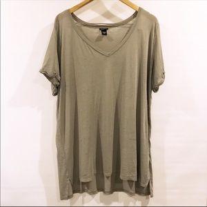 Torrid | Grey V-neck T-shirt Oversized Burnout 2